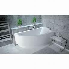 offset corner bath practica space saver 1500 mm x 700 mm