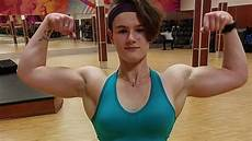 woman fitness model 18 years fitness girl bianca flexing and working out