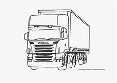 coloring page of a scania truck letmecolor