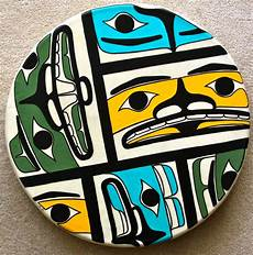 rekindling 20 drum acrylic paint elk skin october 2012 haida art american art