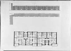 gropius house plan 1927 1929 housing development karlsruhe dammerstock