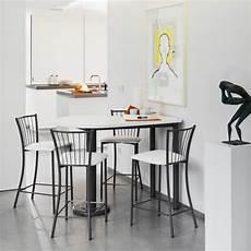 Table Snack De Cuisine Demi Oblongue En Stratifi 233 Et M 233 Tal