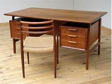 teak home office furniture danish modern teak mid century office desk gunni omann for