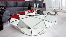 table basse miroir table de salon design miroir diamant 224 facettes tove