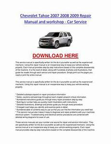 car repair manuals download 2008 ford expedition spare parts catalogs chevrolet tahoe 2007 2008 2009 repair manual and workshop car service by chevroletservice issuu