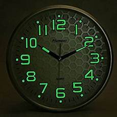 com plumeet light function 13 inch wall clock with silent non ticking