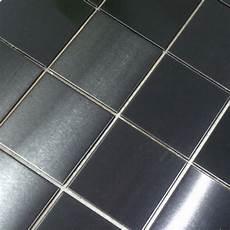 Kitchen Backsplash Tile Mesh by 48 48mm Black Stainless Steel Metal Tile For House