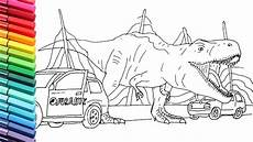 jurassic world dinosaurs coloring pages 16737 drawing and coloring t rex escape from jurassic pack dinosaurs color pages for