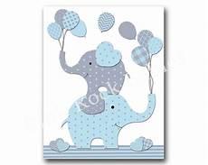 blue elephant nursery wall baby boy nursery by