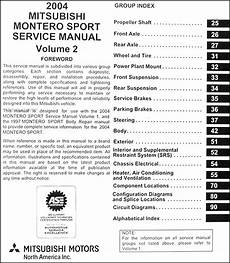 manual repair autos 2004 mitsubishi montero sport regenerative braking 2004 mitsubishi montero sport original repair shop manual set