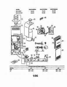 Coleman Evcon Ind Furnace Parts Model Dgat070bda