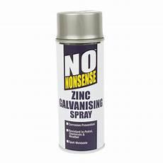 no nonsense zinc galvanising spray paint silver 400ml ebay