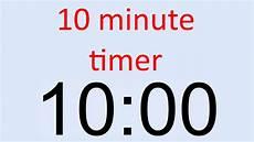 in 10 minuten 10 minute timer