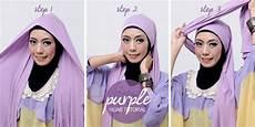 Cara Memakai Jilbab Pashmina Simple Warna Ungu Ngawi Cyber