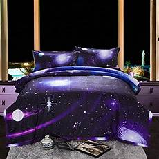 galaxy 3d printing never fade quilt outer space comforter sets bedding queen ebay