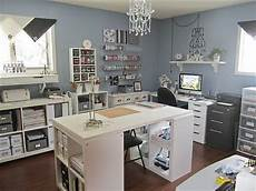 i like how clean and well organized this craft room is i