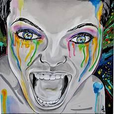 tableau visage noir et blanc tableau contemporain urbain visage femme noir et blanc