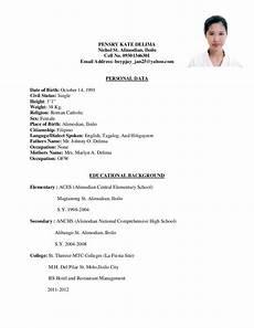 resume format for hotel management fresher pdf