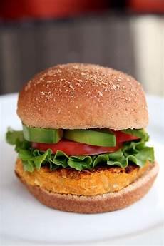 vegetarian sweet potato veggie burger recipe popsugar