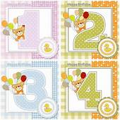 Baby Happy Birthday Cards Vector  Graphics Blog