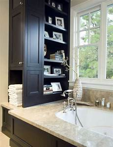 bathroom shelf ideas above small bathrooms with clever storage spaces