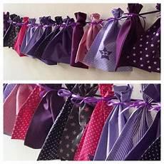 adventskalender aus stoff in lila violett pink