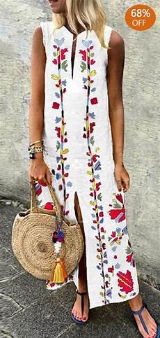bohemian floral print maxi dress vetement hippie chic