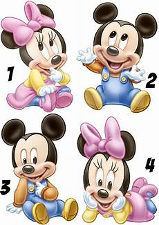 baby minnie mickey mouse sticker wall decal or iron on