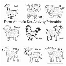 animals worksheets for kindergarten 14059 farm animals dot activity printables the resourceful