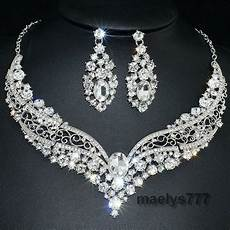 Parure Bijoux Or Mariage Parure Bijoux Mari 233 E Strass Collier Boucle D Oreille
