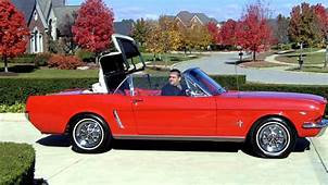 1965 Red Ford Mustang Convertible For Sale