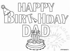 happy birthday coloring page coloring page