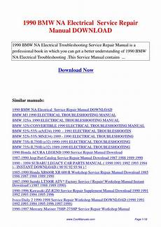 download car manuals 1989 acura legend head up display 1990 bmw na electrical service repair manual by lan huang issuu