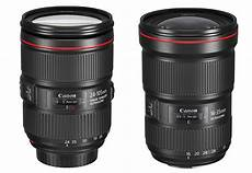 canon ef 24 105mm f 4l is ii usm and ef 16 35mm f 2 8l iii announced price 1 099 and 2 199