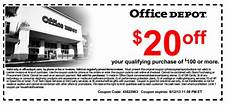 Office Depot Coupons Discounts by Office Depot Printable Store Coupon Coupon