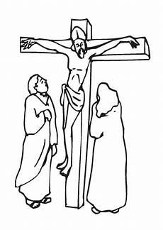 jesus am kreuz zum ausmalen ausmalbilder malvorlagen