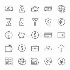 bank und geld einzelteil moderne flache ikonen eingestellt
