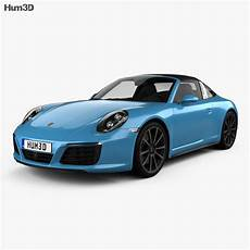 Porsche 911 Targa 991 4s 2016 3d Model Vehicles On Hum3d