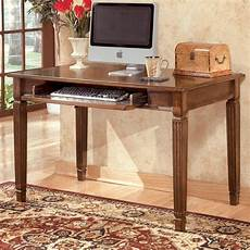 desks home office furniture ashley furniture hamlyn small office leg desk in brown