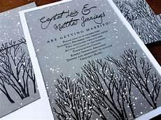 winter wedding invitations rustic wedding invitations winter