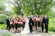 black attire wedding party