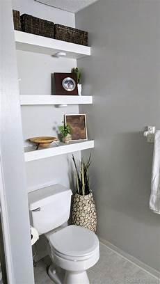 bathroom shelf ideas above how to build diy floating shelves reality daydream