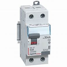 Interrupteur Diff 233 Rentiel Legrand Dx3 63a 30ma 2 Poles Type