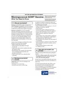 meningococcal menacwy vaccine information statement