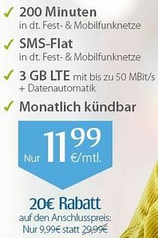 Handyvertrag Zum Sparpreis Mit 3 Gb Datenvolumen