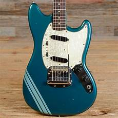 new fender mustang vintage fender competition finish mustang electric guitar reverb