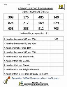 place value worksheets salamander 5272 second grade math worksheets reading writing comparing 3 digits 2 printable math worksheets