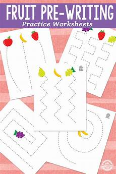 free fruit pre writing practice worksheets