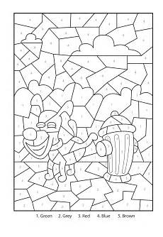 free color by number coloring pages to print 18111 free printable cheeky puppy colour by numbers activity for coloring pages color by