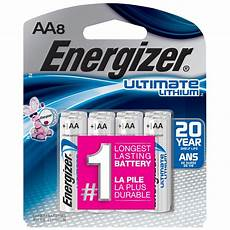 energizer ultimate lithium aa battery 8 pack l91sbp 8